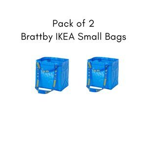 Set of 2 - Brattby IKEA Small Shopping Bags